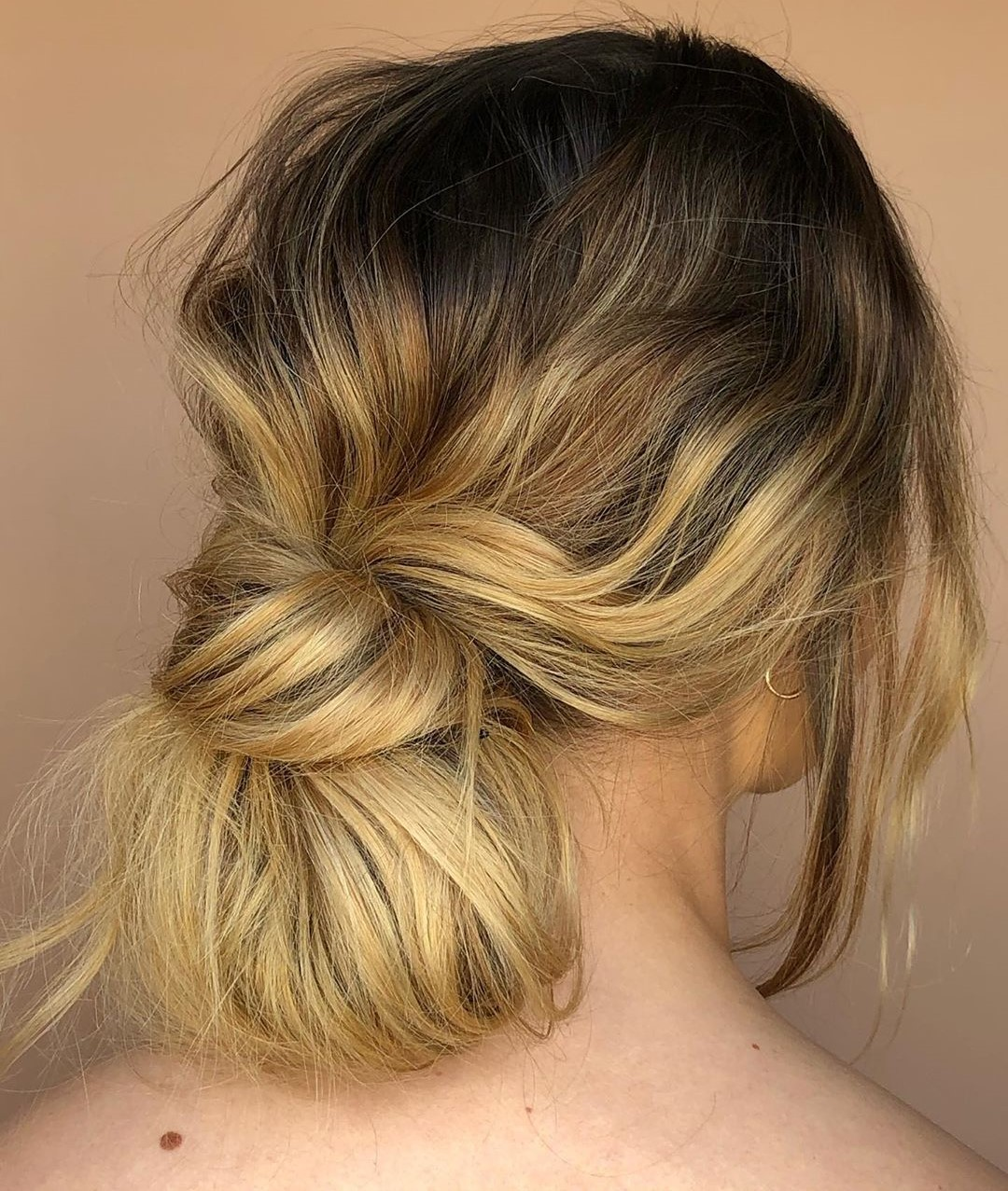 Messy Looped Ponytail Updo