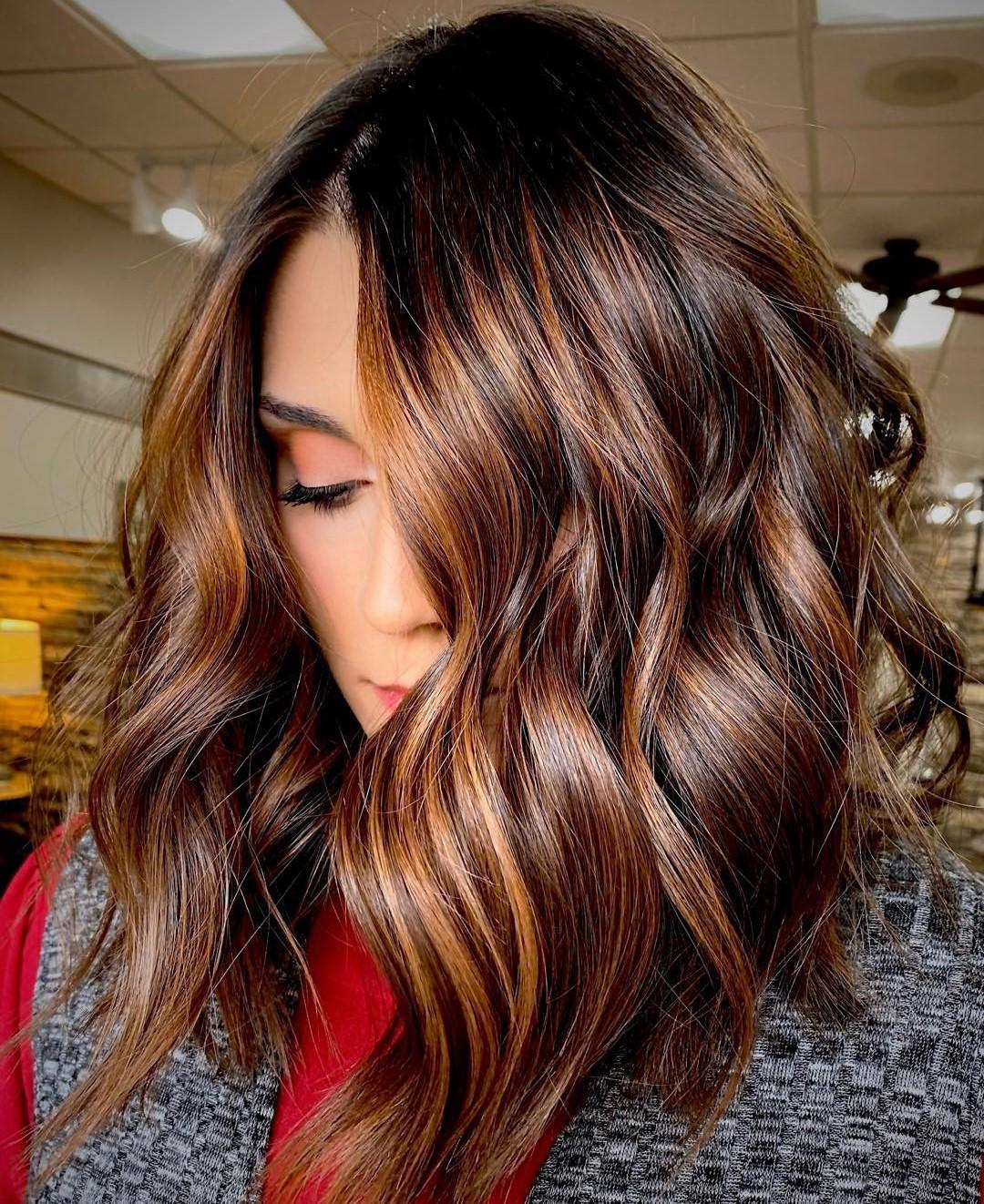 Brown Auburn Balayage Hair