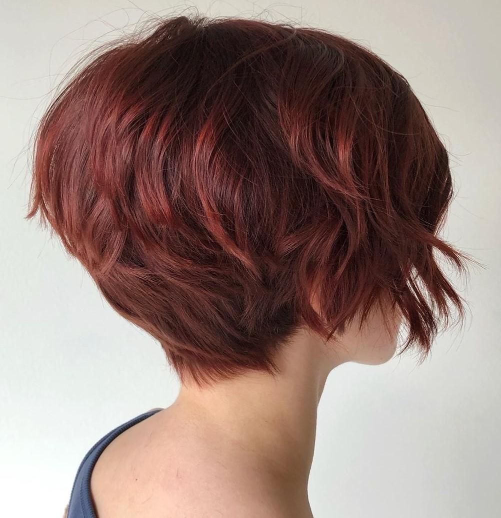 Short Deep Auburn Hair