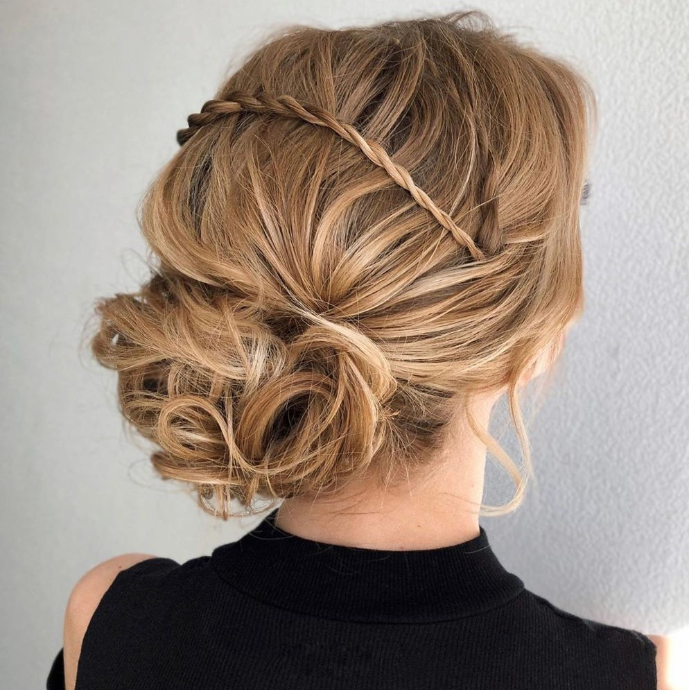 Cute Curly Updo with a Twist