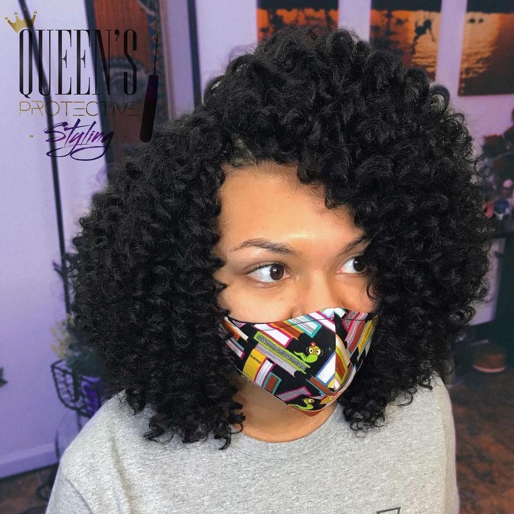 Neck-Length Crochet Curls