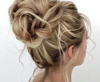 Formal Voluminous Bun Updo