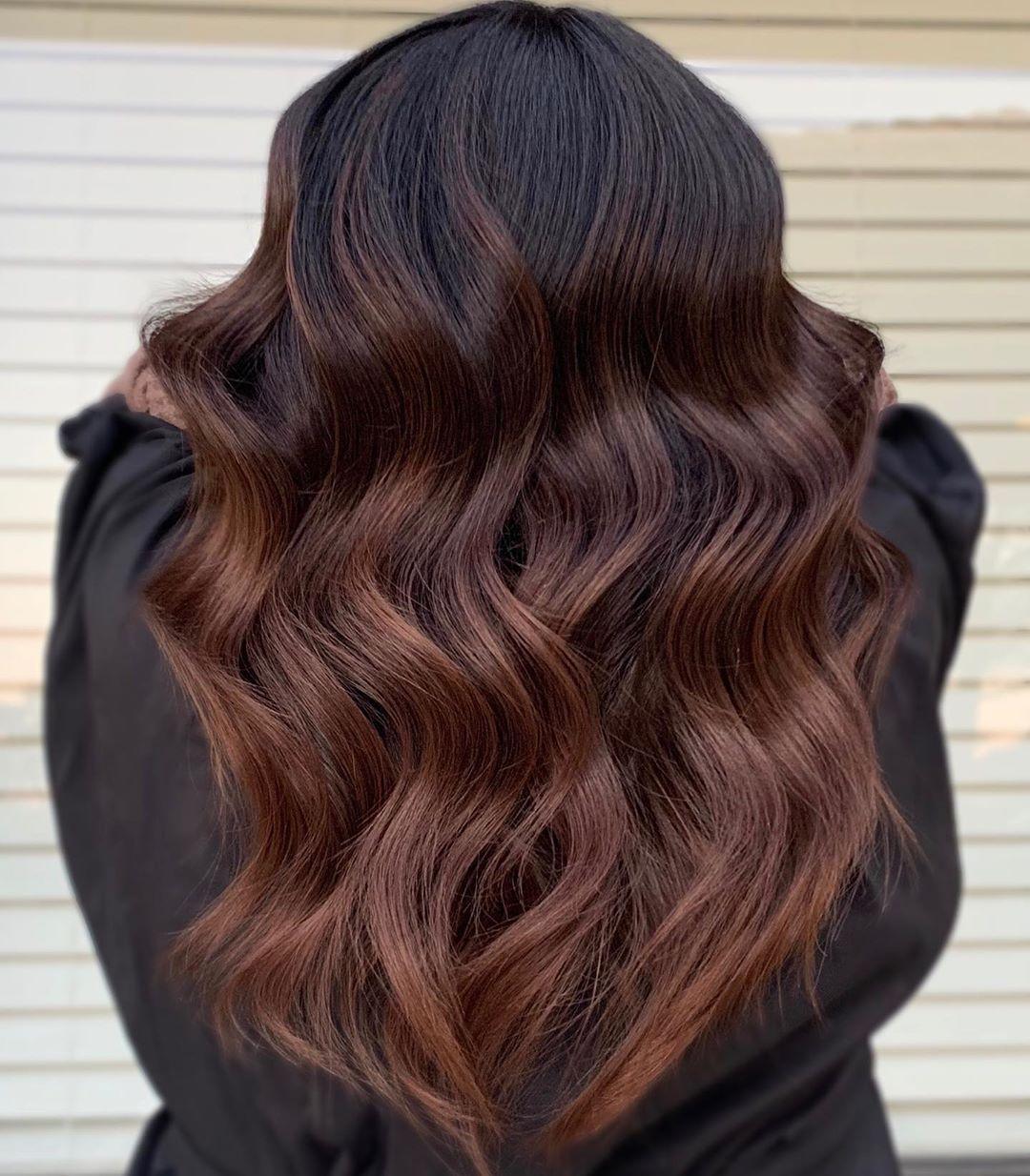 Chocolate Brown Balayage Hair Color