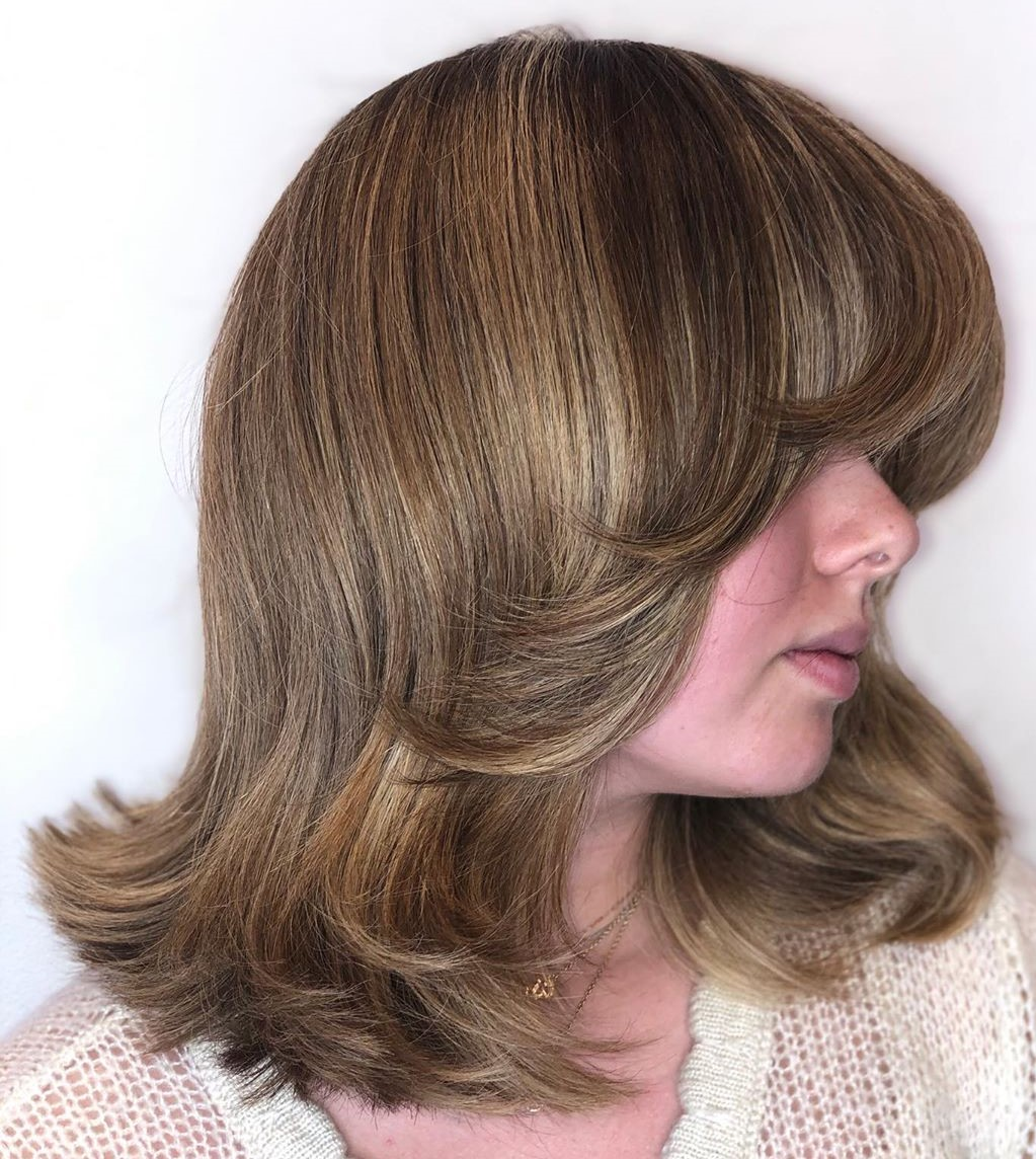 Mid-Length Hair with Feathered Bangs