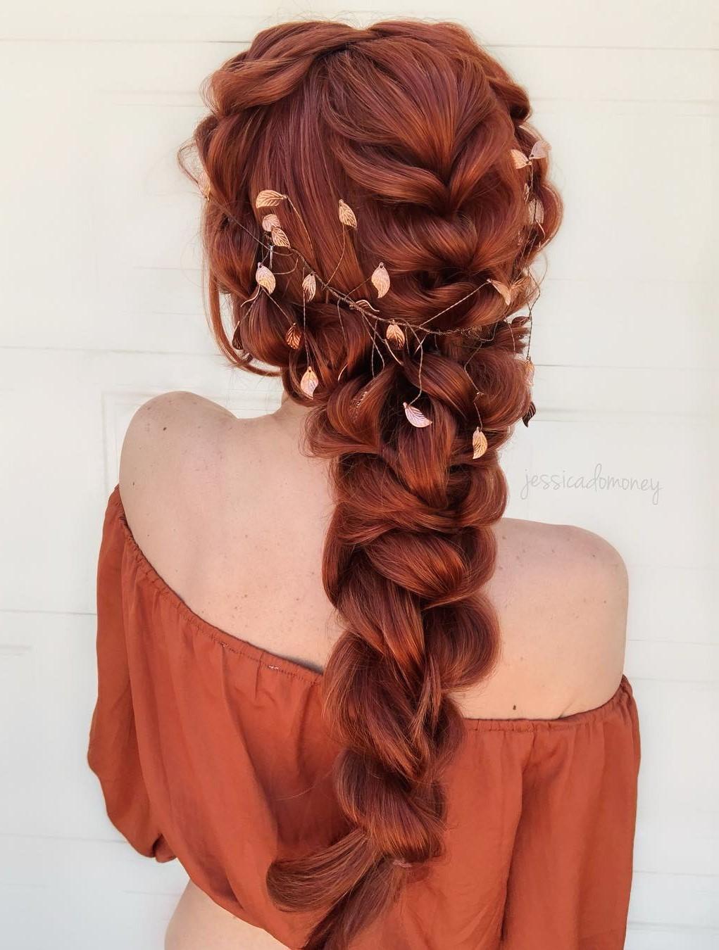 Long Braided Auburn Hair