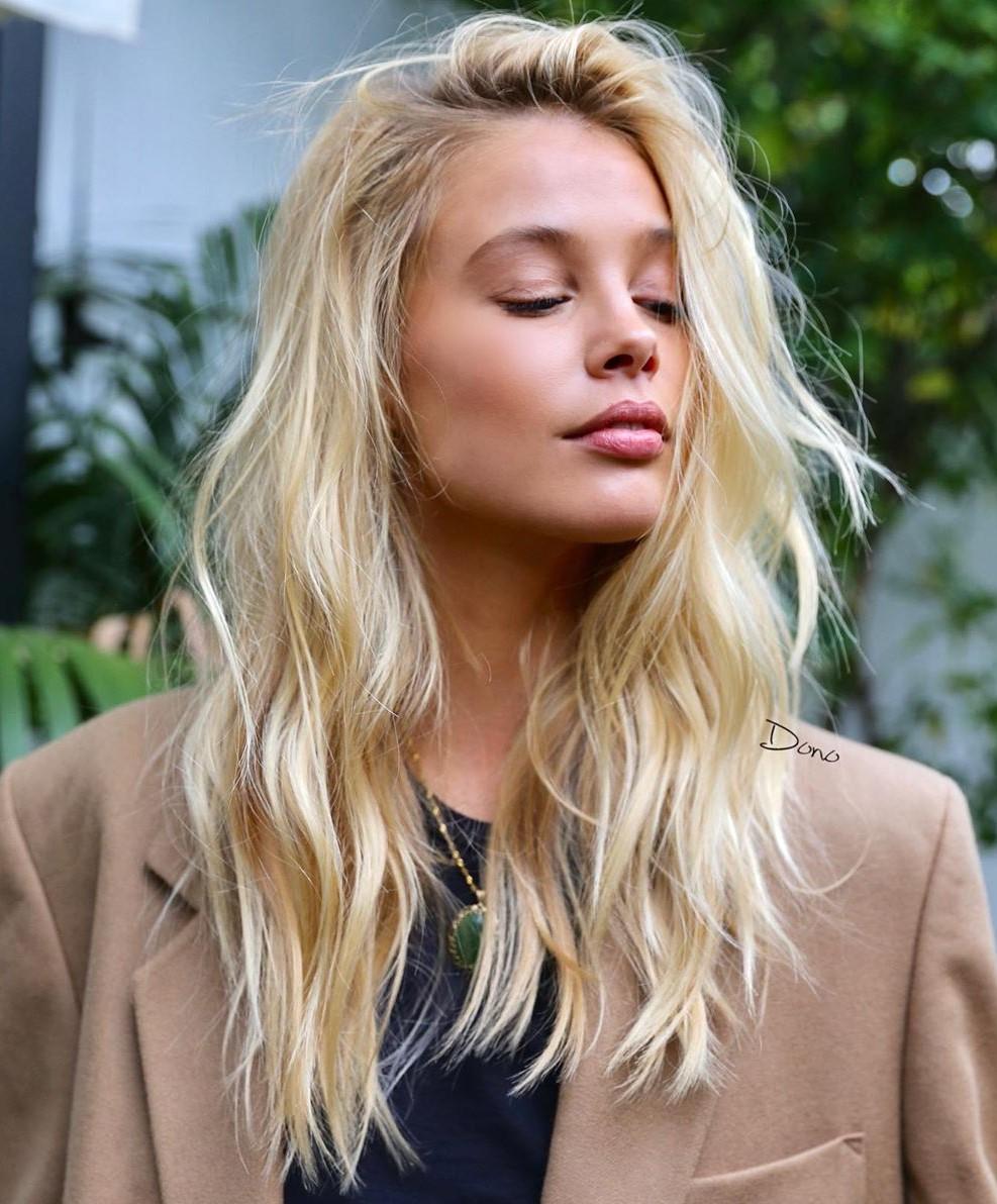 Medium Layered Golden Blonde Hair