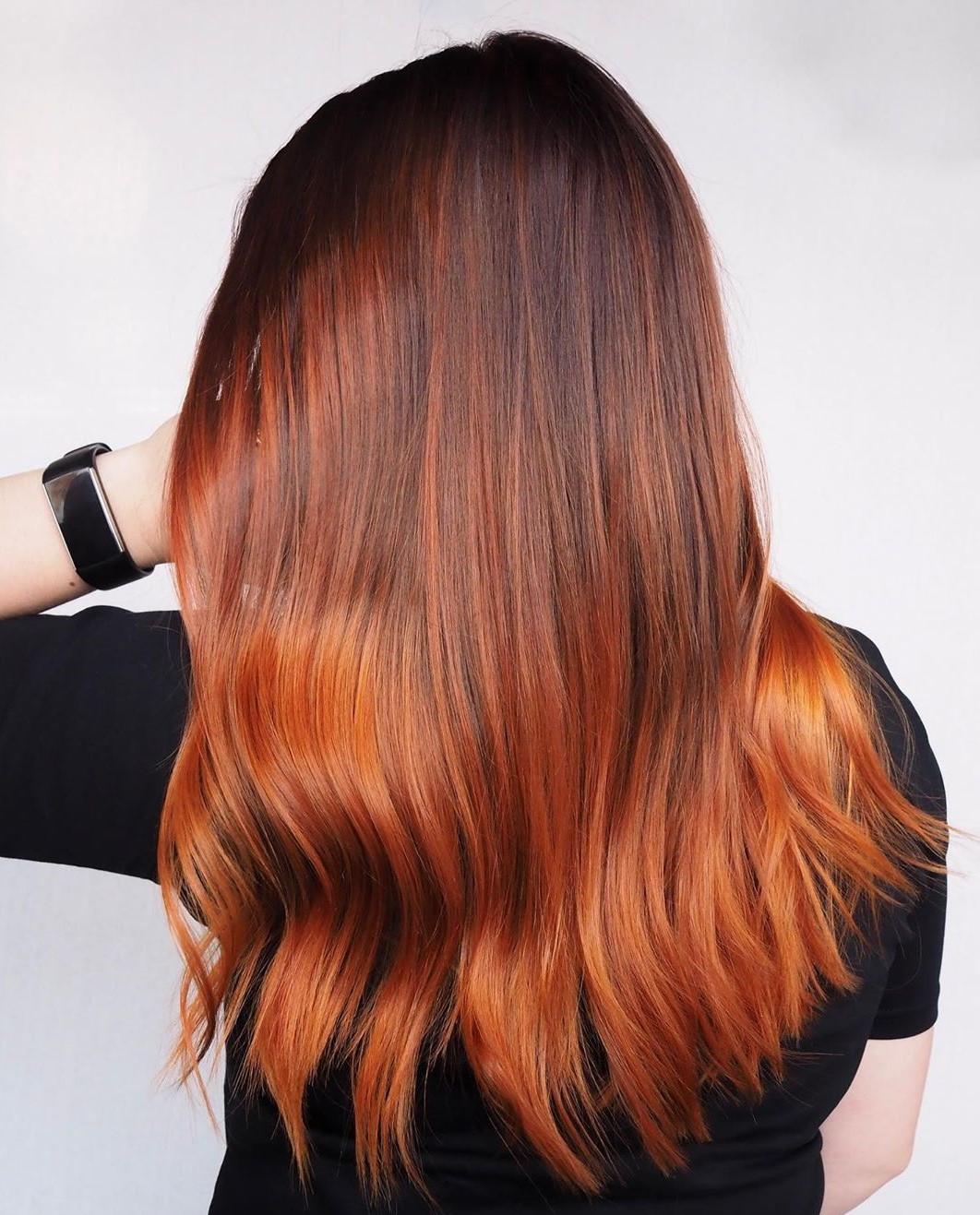 Copper Ombre for Auburn Hair