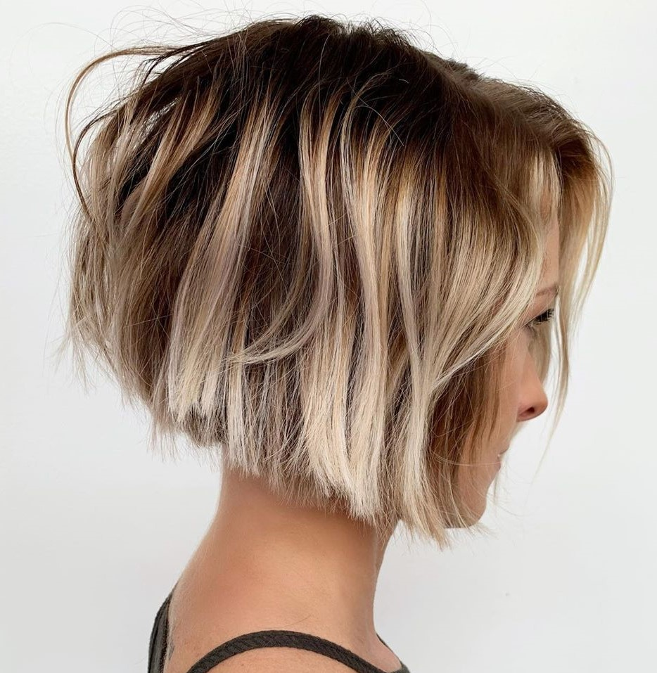 Short Brown Blonde Balayage Hair