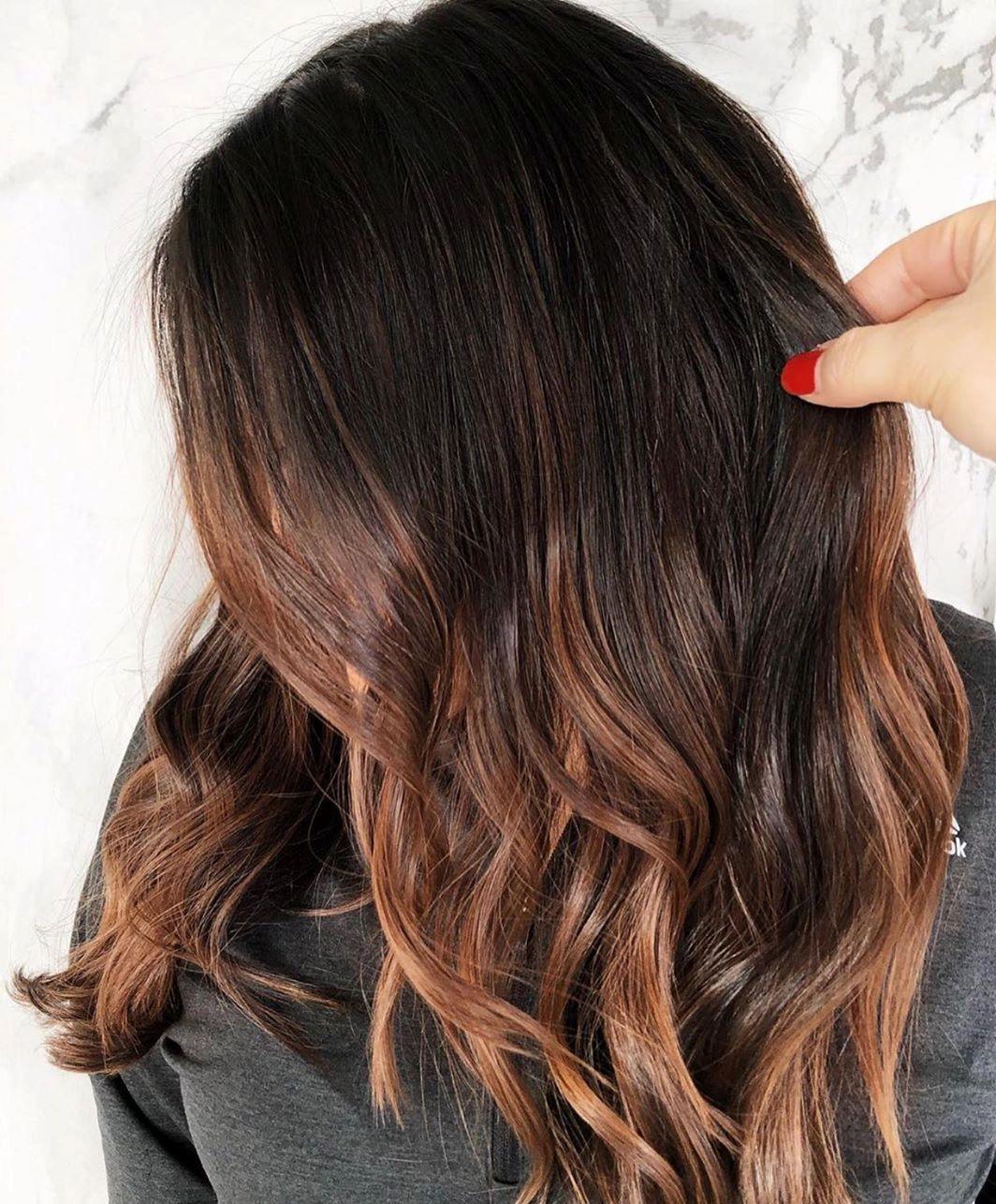 Honey Balayage for Brunette Hair