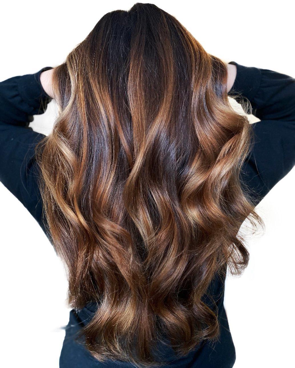 Beautiful Caramel Balayage for Brown Hair