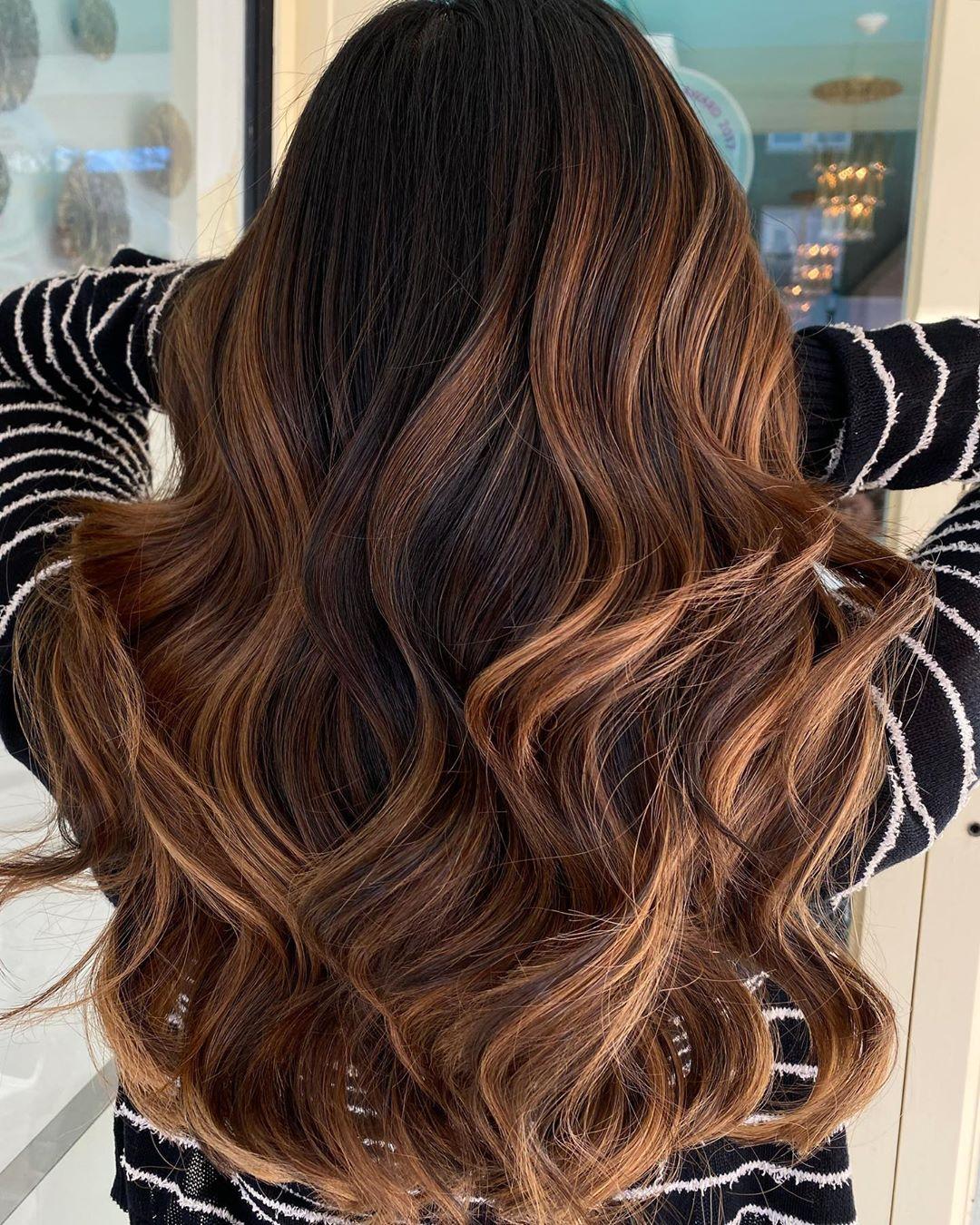 Cinnamon Brown Balayage Hair