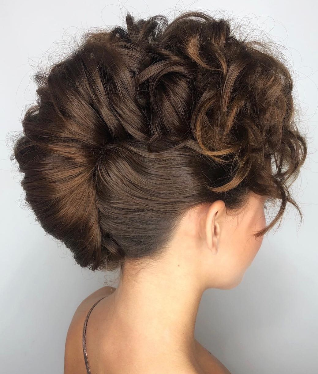 French Twist Updo with Curly Ends