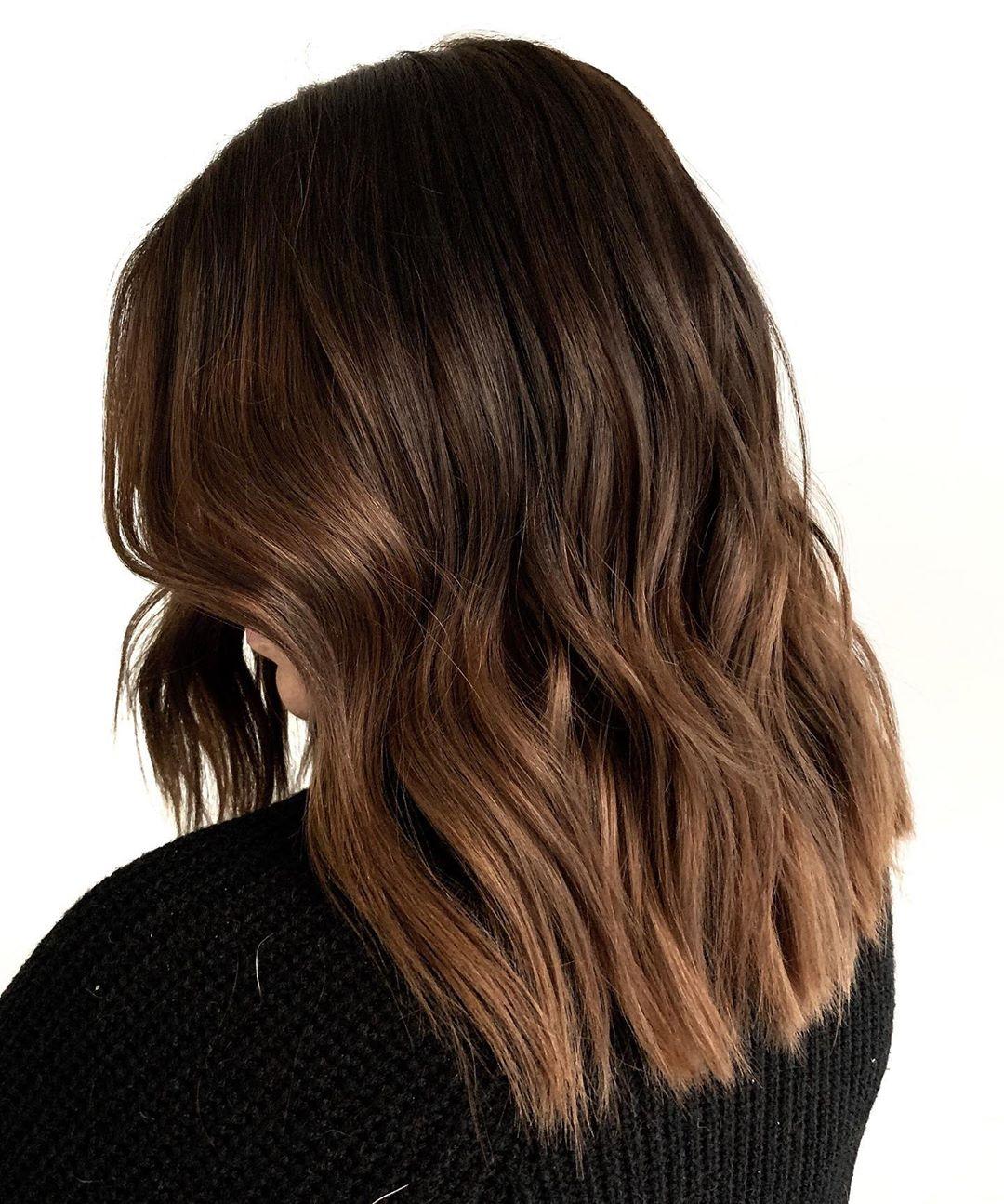 Matte Chocolate Balayage Hair