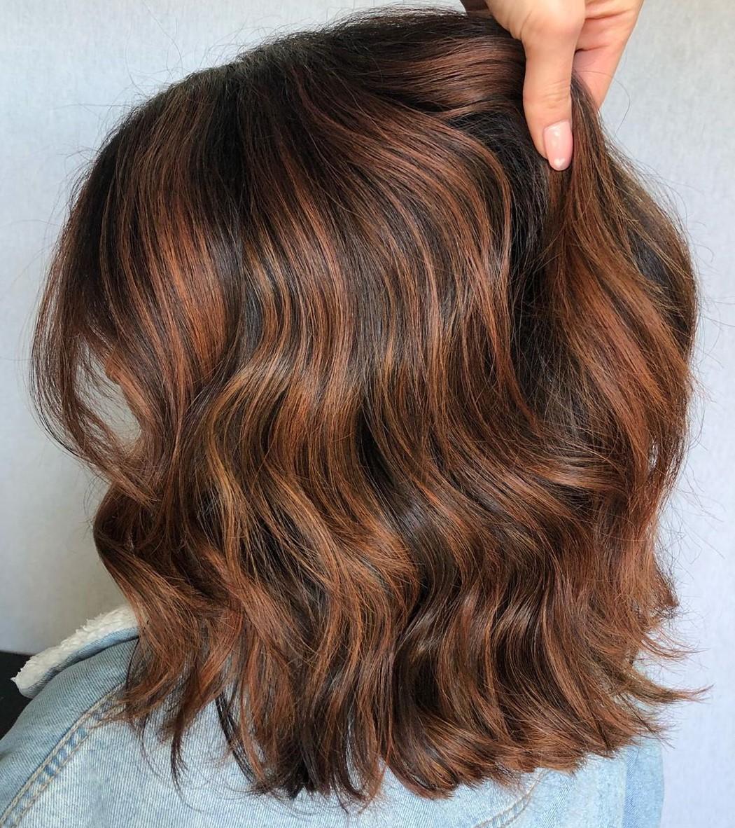 Auburn Highlights for Dark Hair