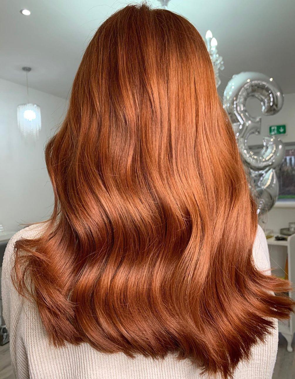 Beautiful Long Auburn Hair