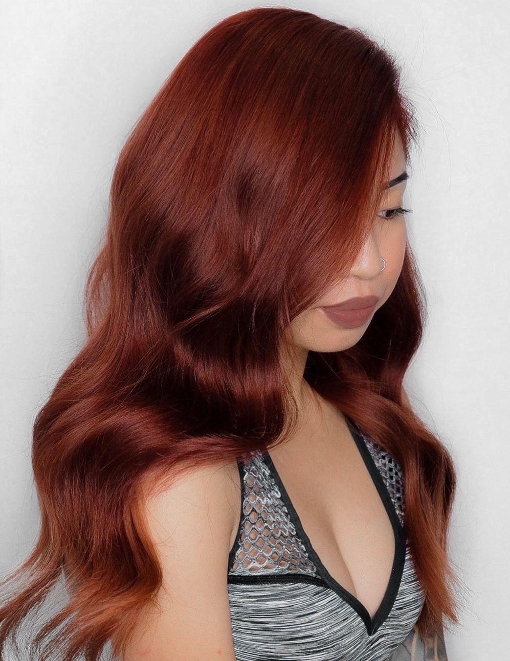 Auburn Color for Long Hair