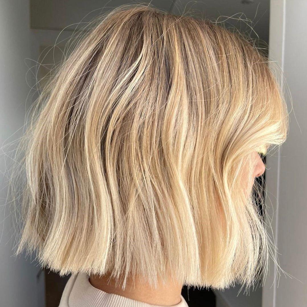 Mid-Length Honey Blonde Hair