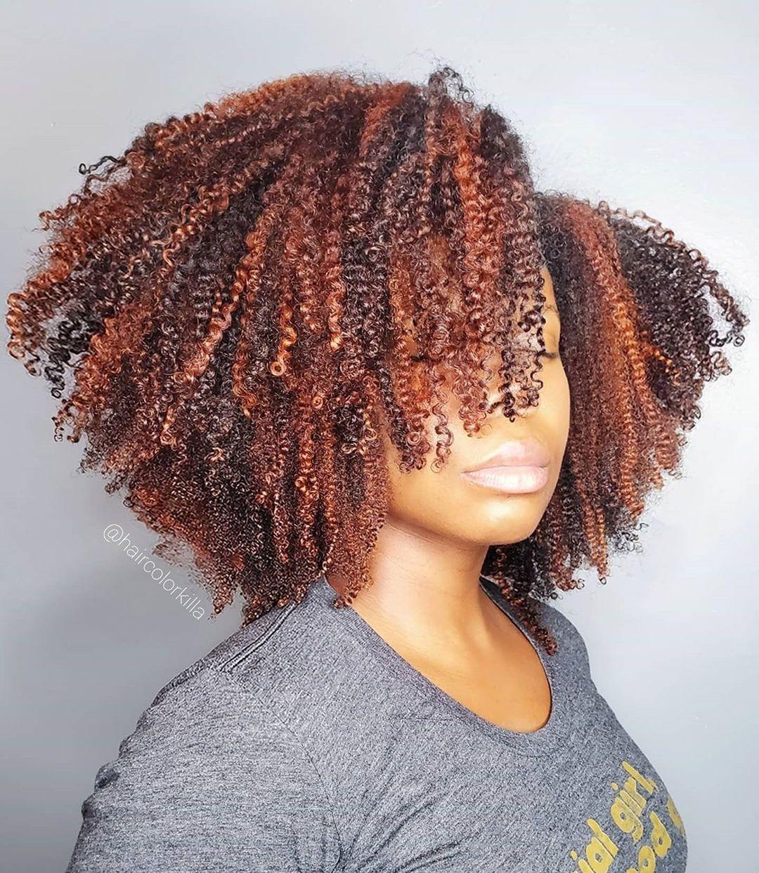 Natural Curly Reddish Brown Hair