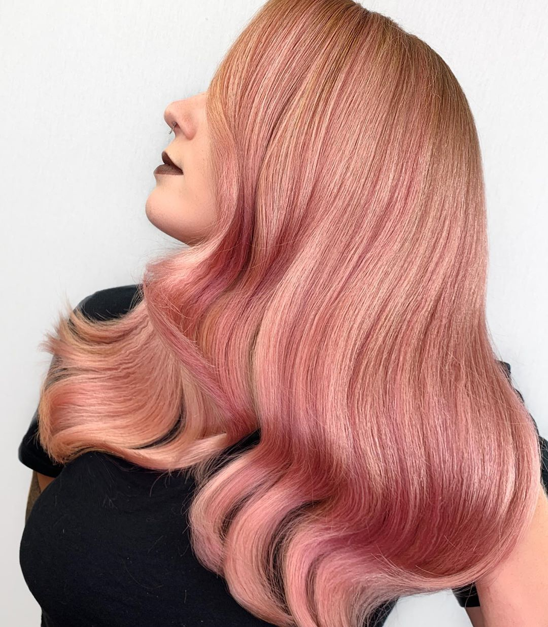 Rose Gold Highlights for Blonde Hair