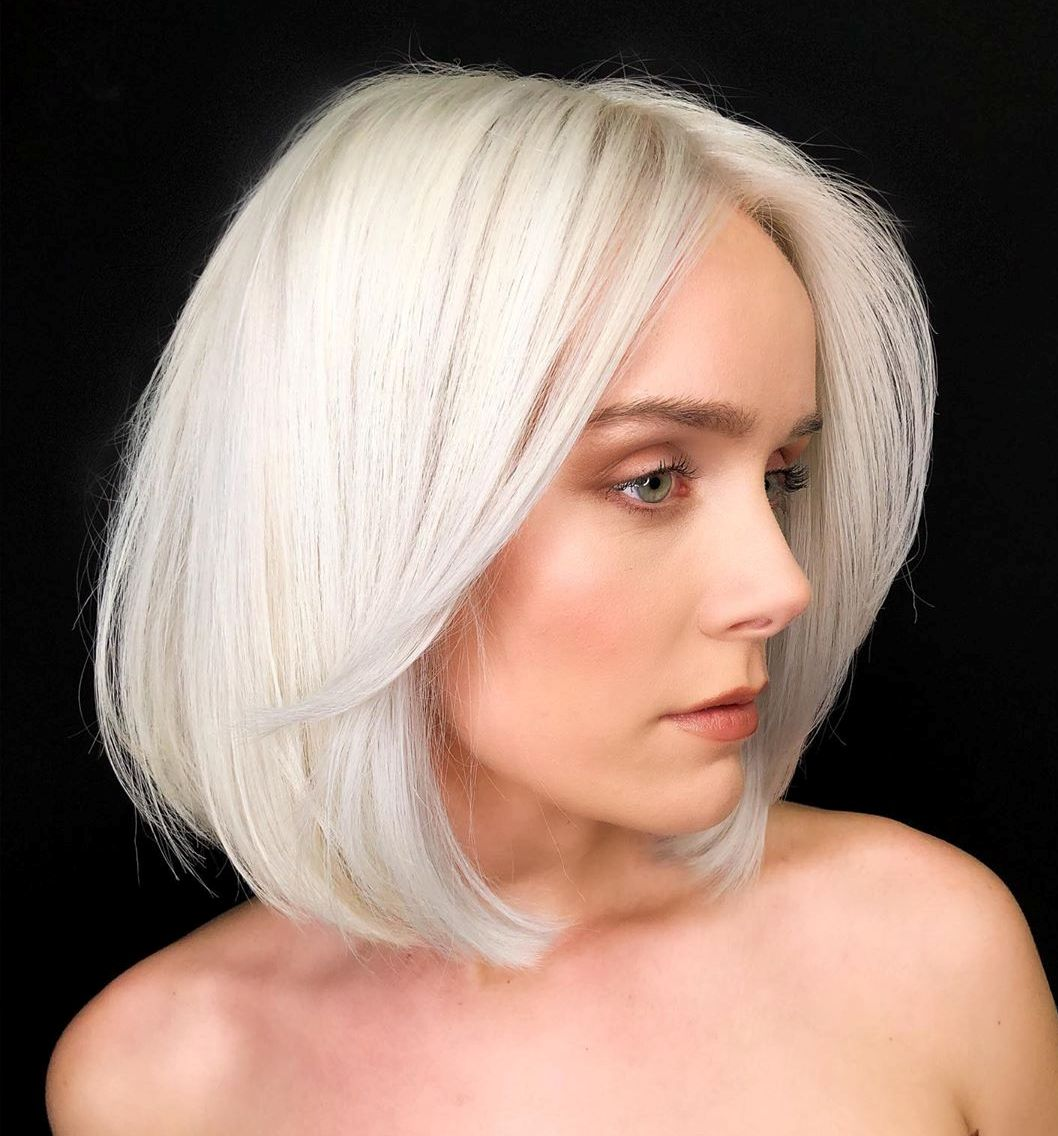 Bright Platinum Silver Hair Color