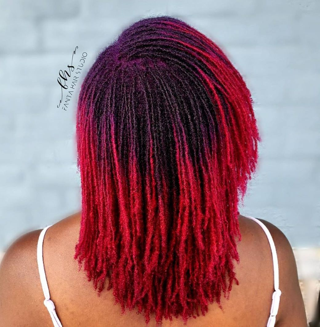 Bright Crochet Micro Dreads