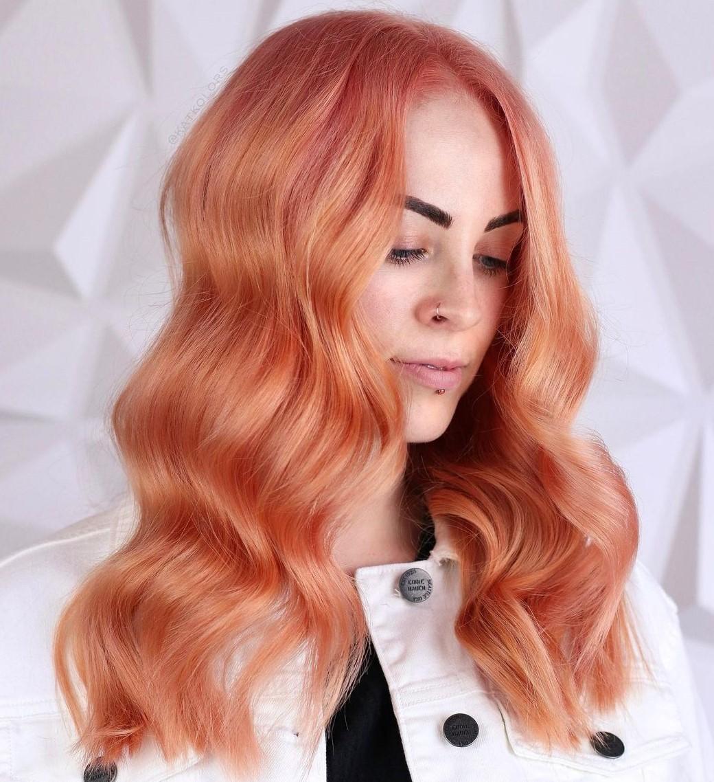 Light Auburn Rose Gold Hair Color