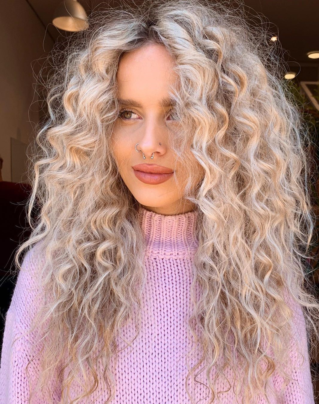 Curly Silver Hair