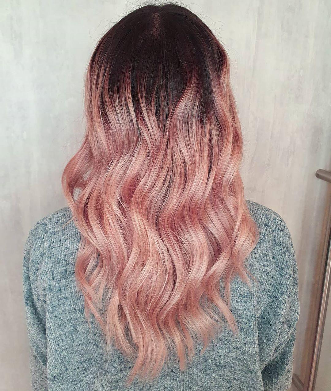 Pastel Rose Gold Highlights