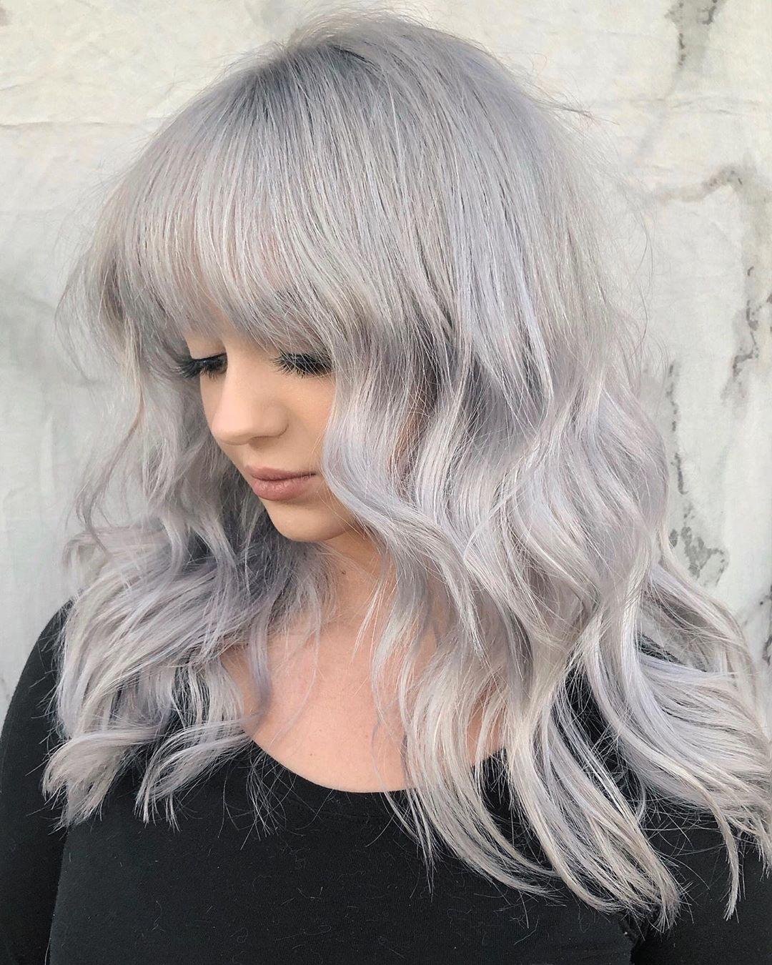 Cute Lilac Silver Hair Color