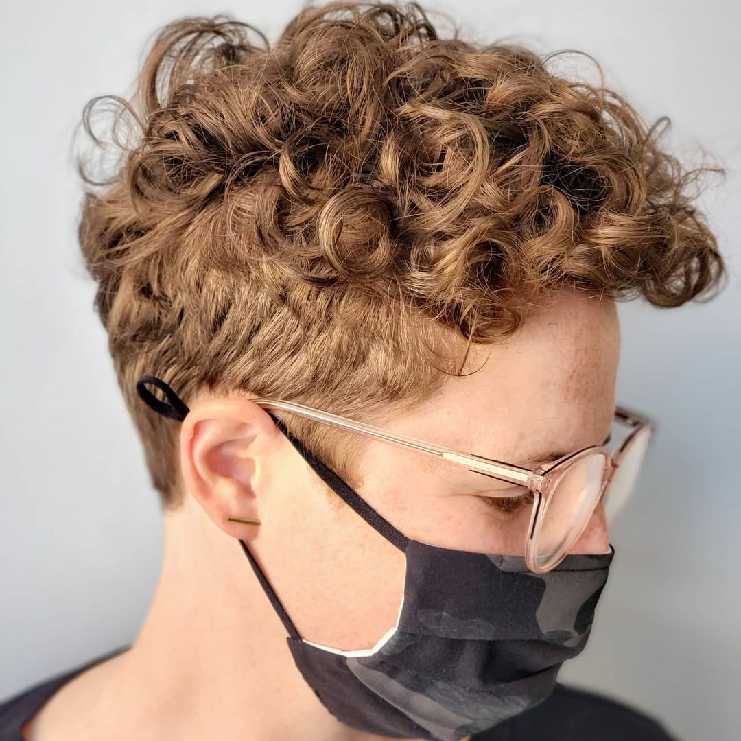Short Undercut with Curly Top