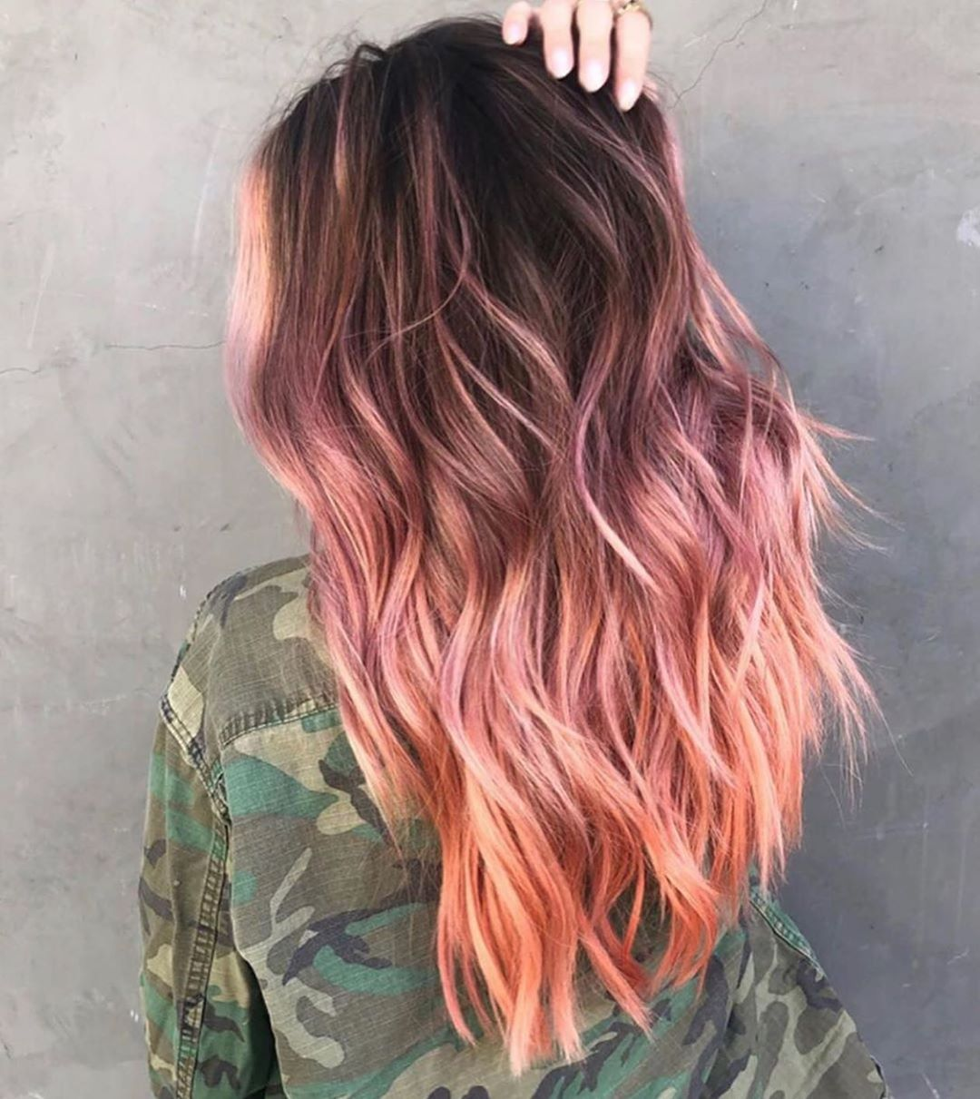 Rose Gold Ombre for Dark Hair
