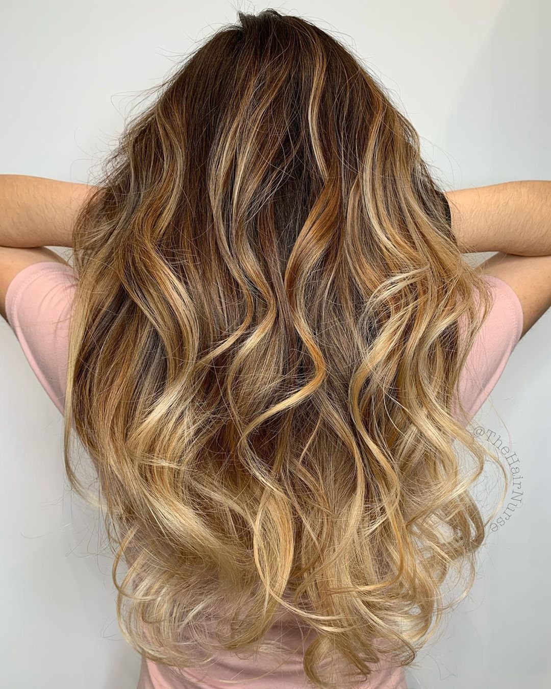 Honey Blonde Balayage for Brown Hair