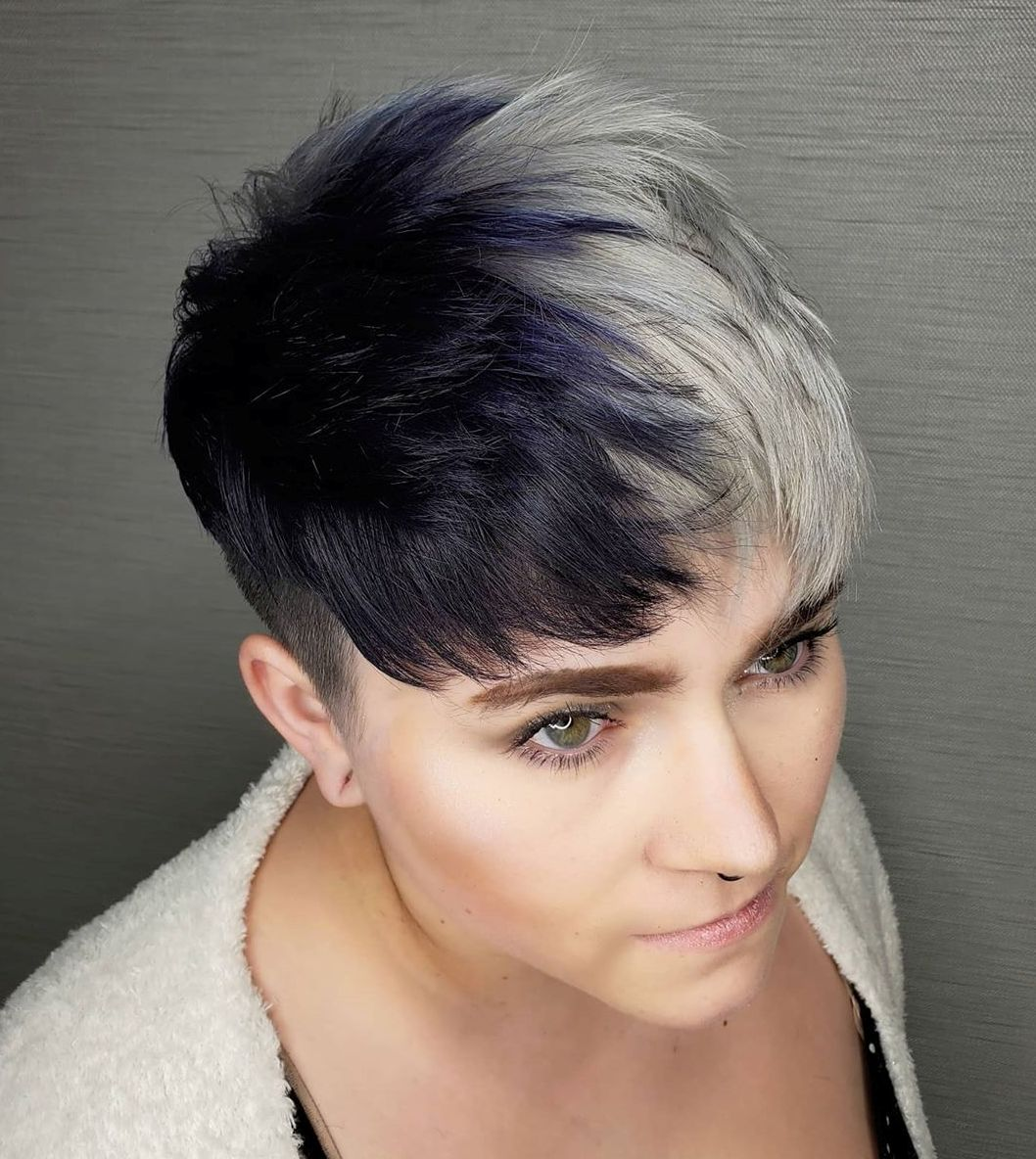 Two-Tone Short Hair Trendy Pixie