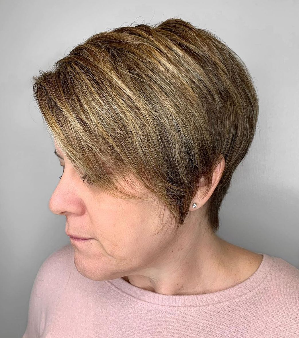 Over 50 Modern Pixie with Side Bangs