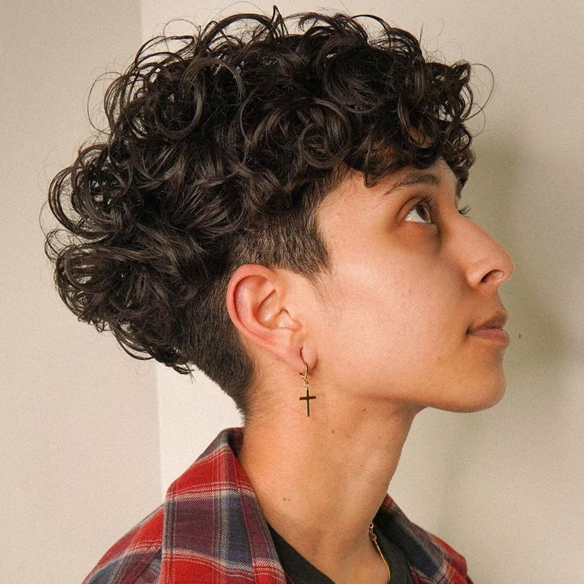 Undercut for Short Curly-Haired Women