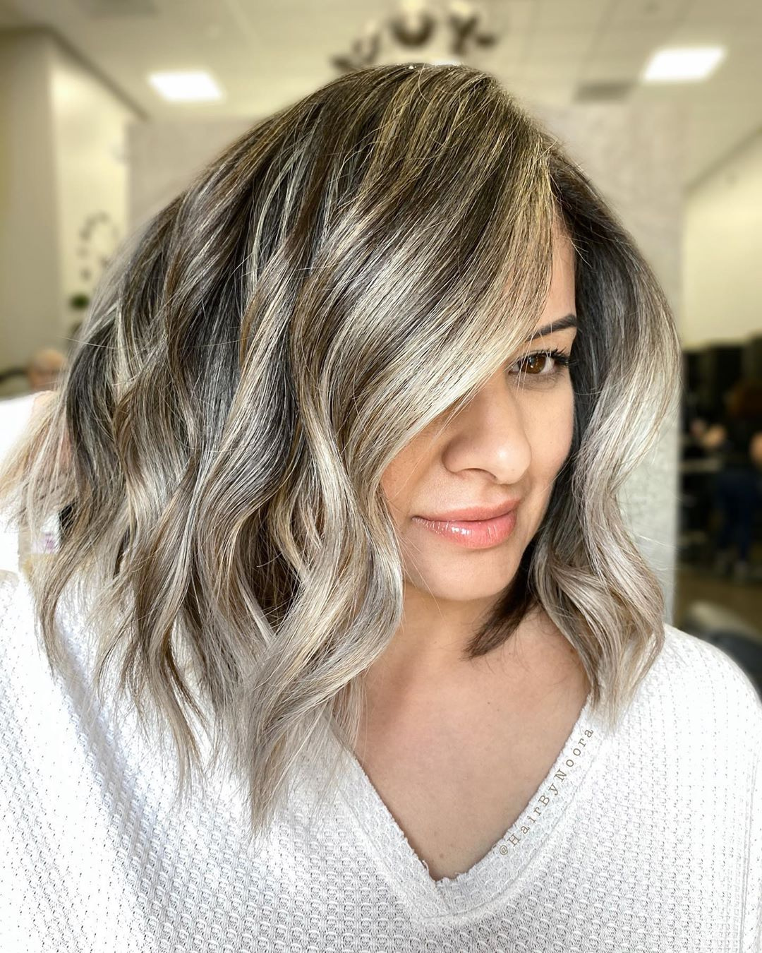 Silver Foilyage for Brown Hair