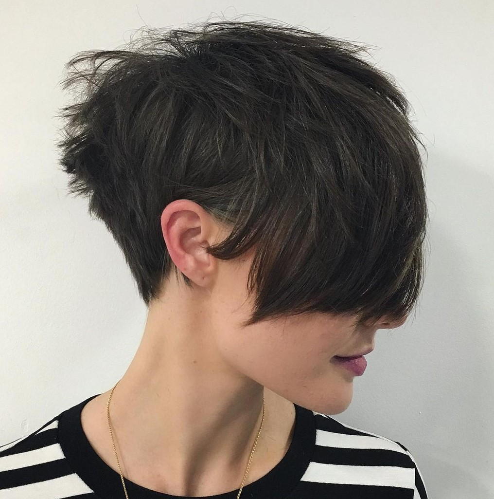 Short Tapered Pixie with Bangs