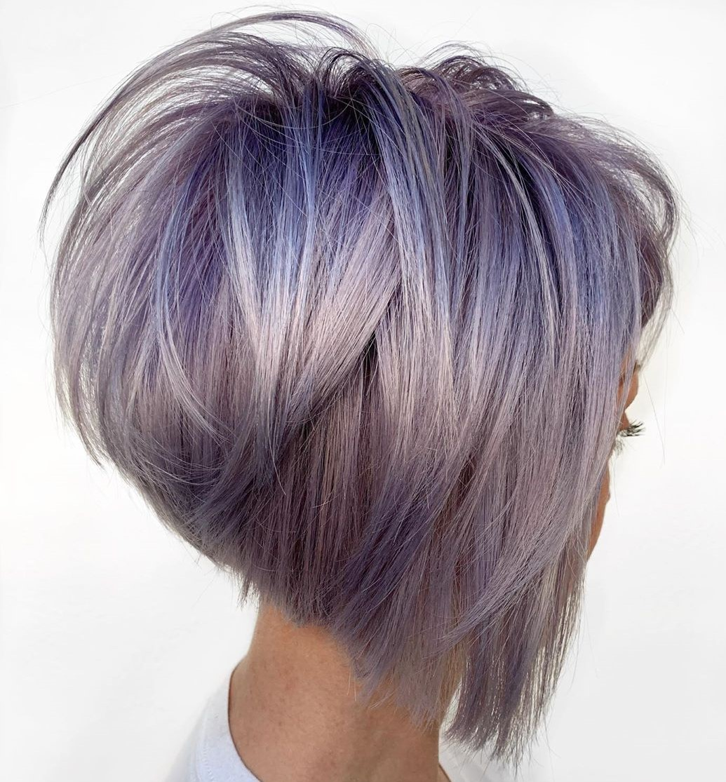 Silver Hair with Purple Roots