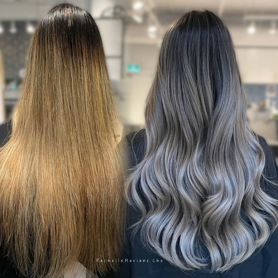 The Best Silver Ombre Highlights