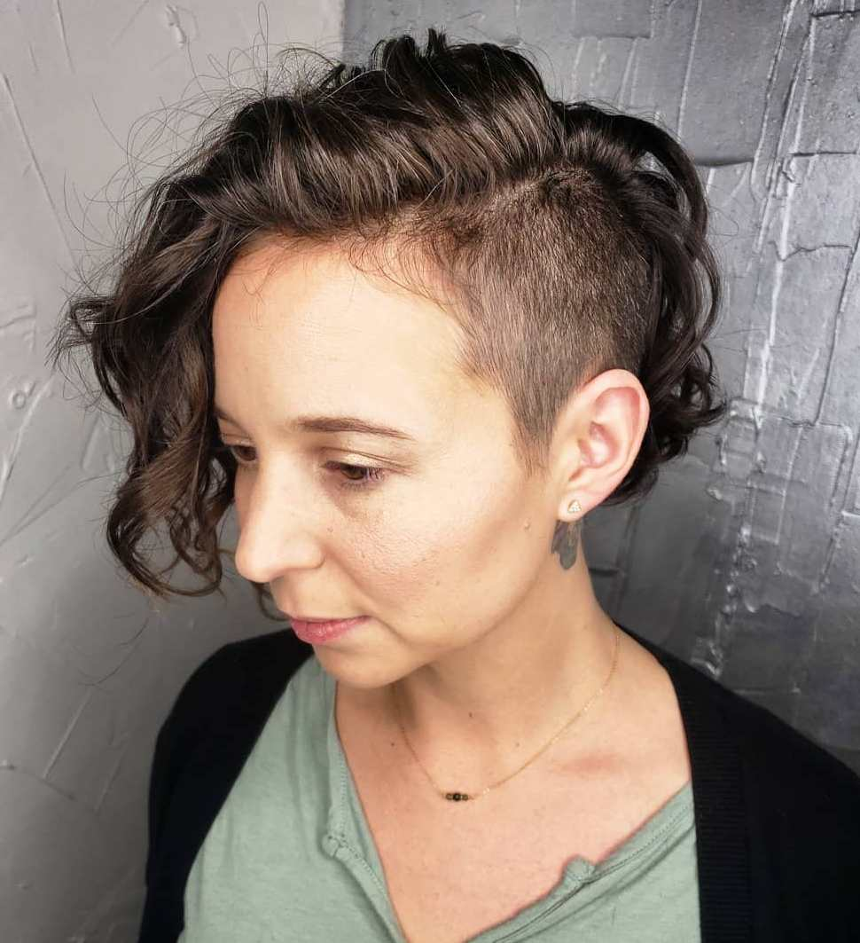 Undercut Pixie Bob for Curly Hair