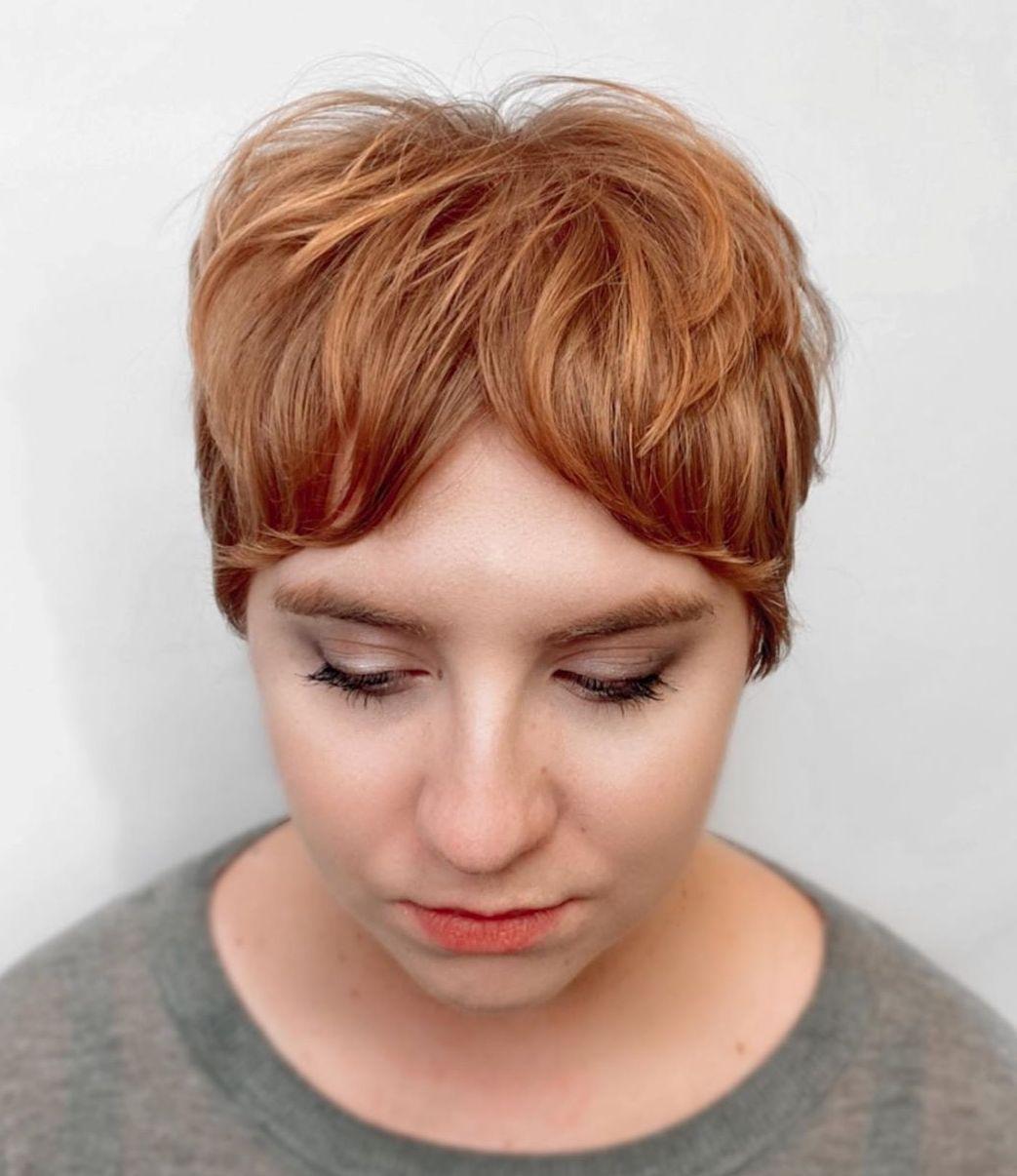 Short Hair with Curtain Bangs