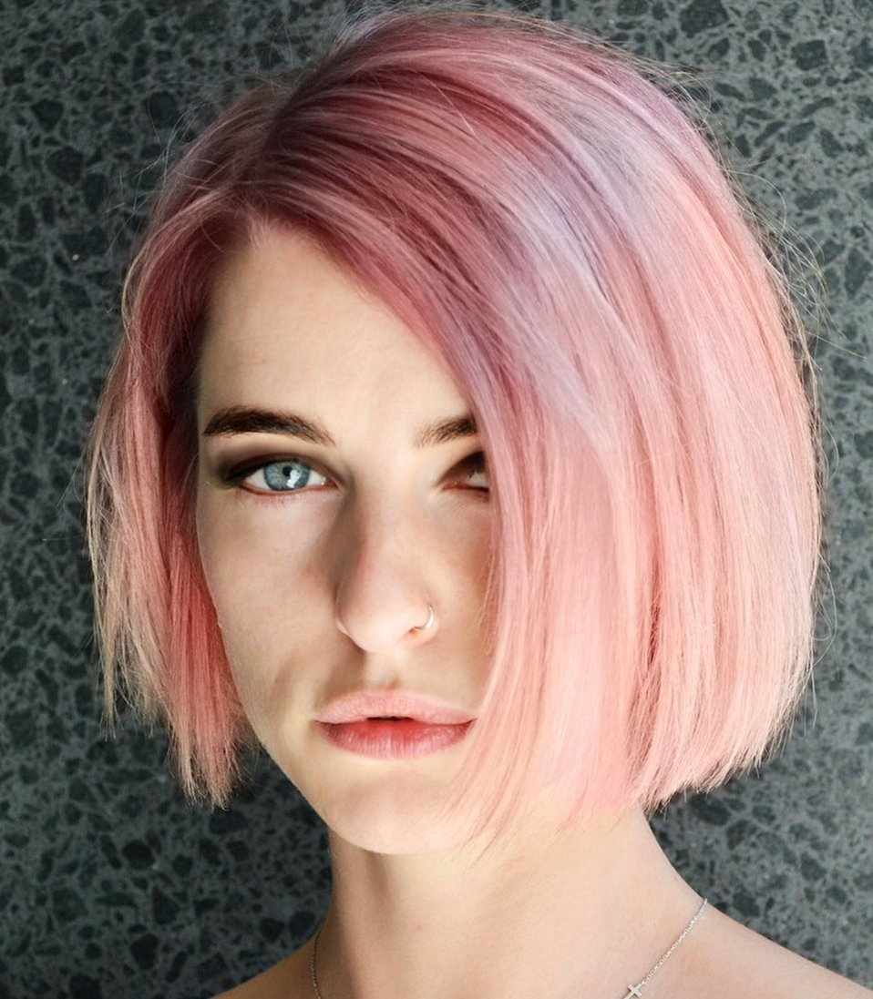 Cool-Toned Rose Gold Hair