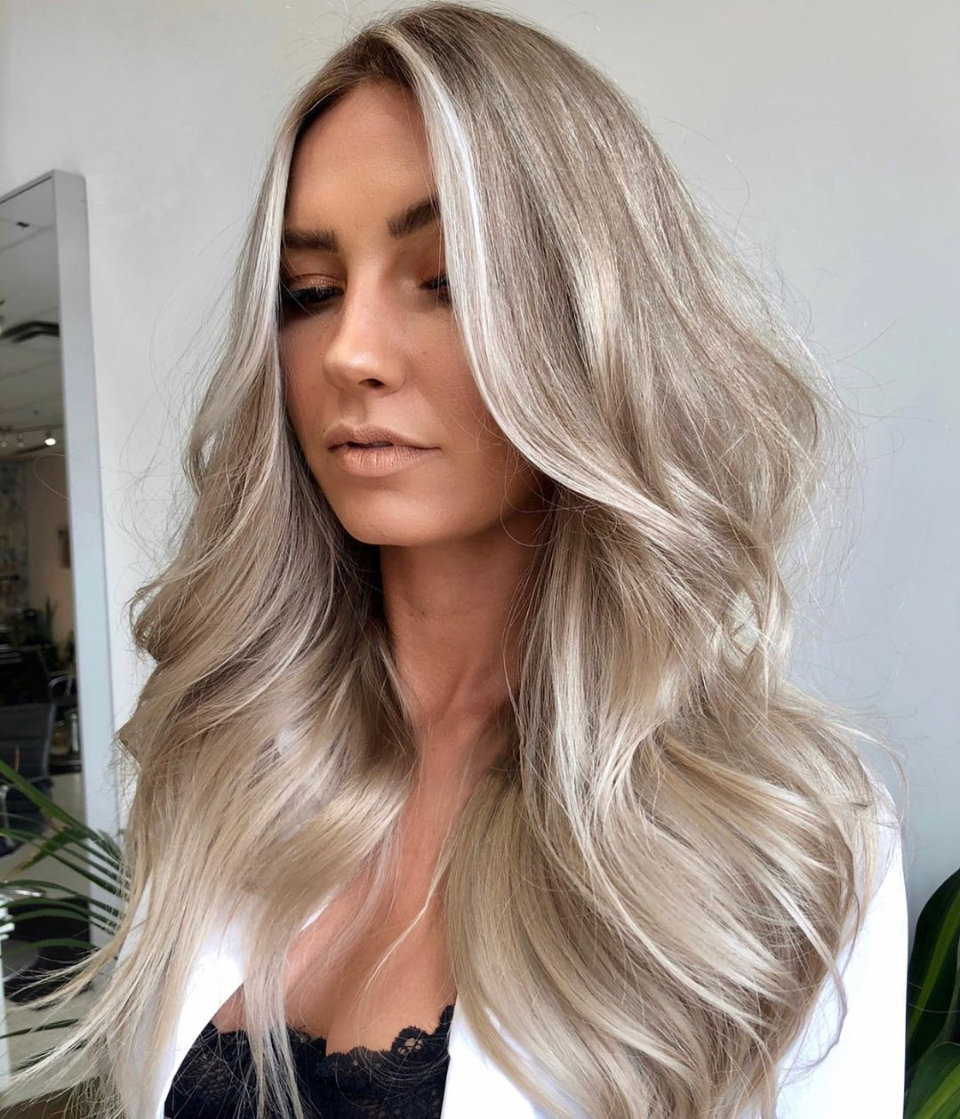 Silver Hair for Tanned Skin