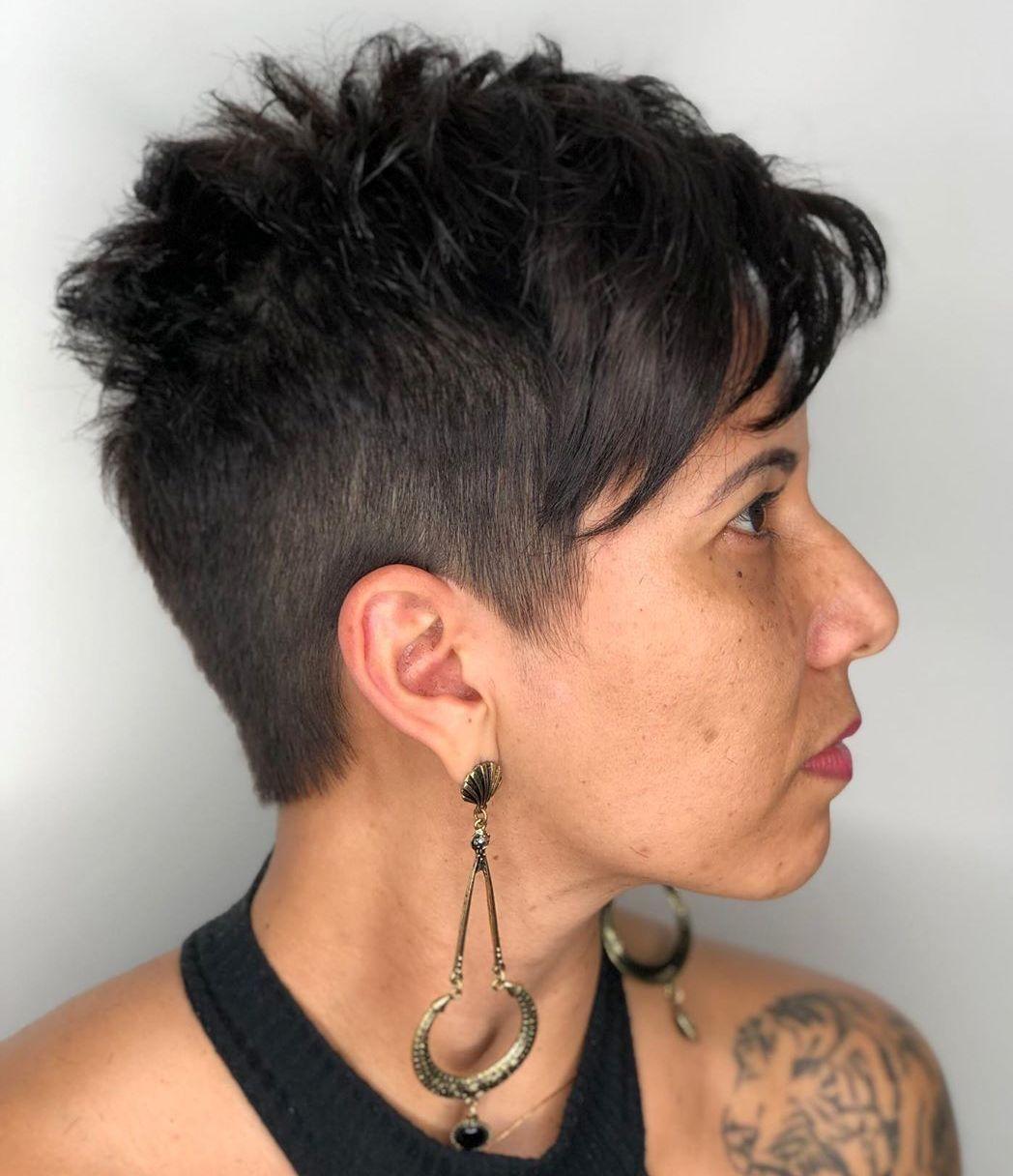 Very Short Choppy Cut with Bangs