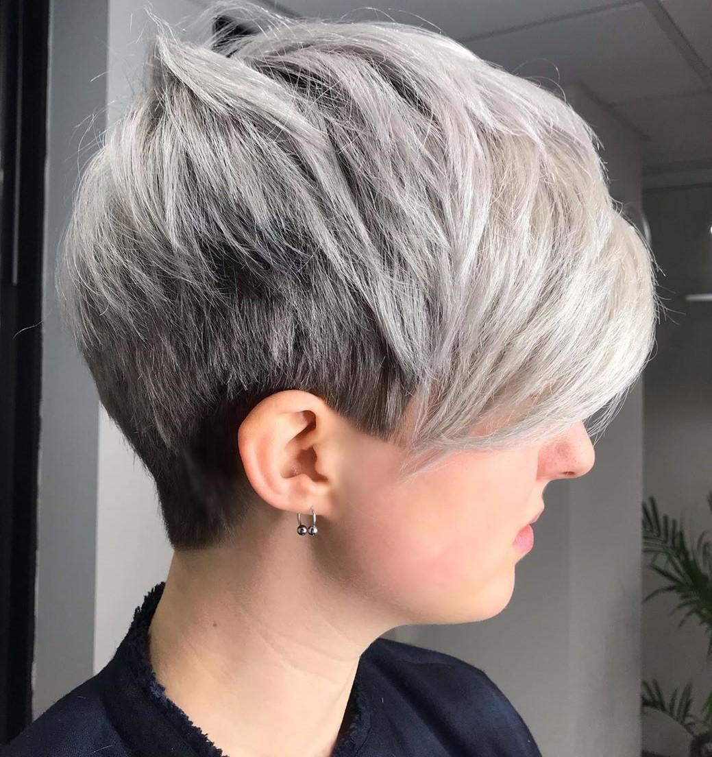 Short Silver Gray Hair