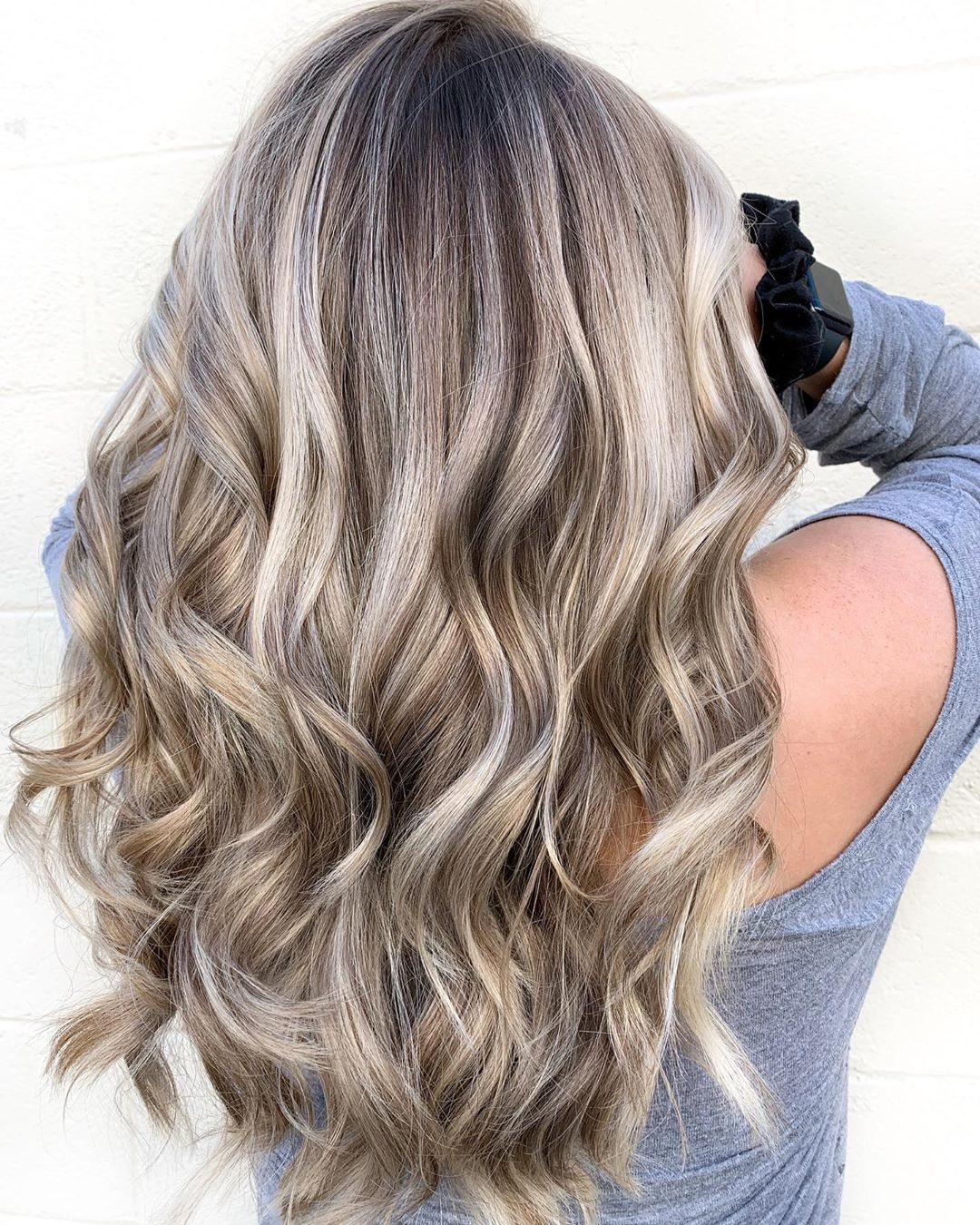 Silver Highlights and Light Brown Lowlights