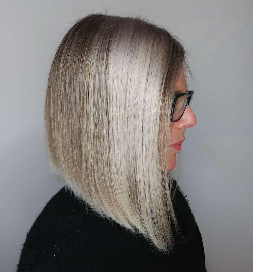Chunky Silver Highlights for Light Hair