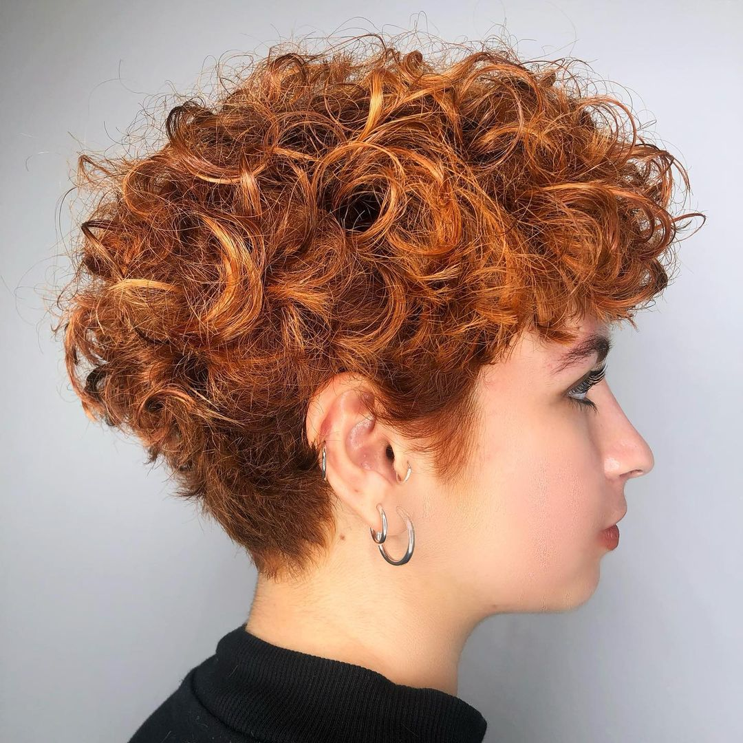 Cute Short Red Curly Hairstyle