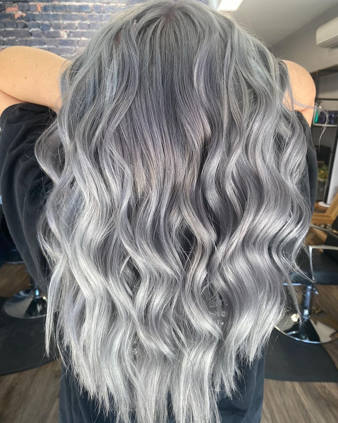 Gray Hair with Silver Highlights