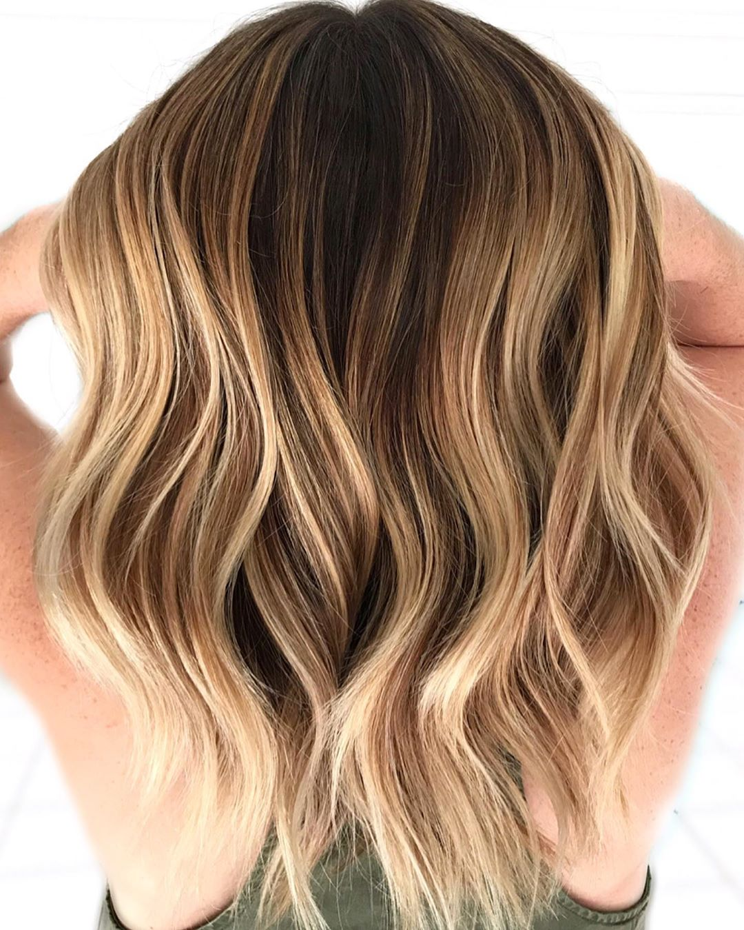 Nutty and Honey Balayage Highlights